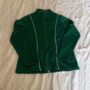 Jackets & Blazers - Green teach/athletic jacket